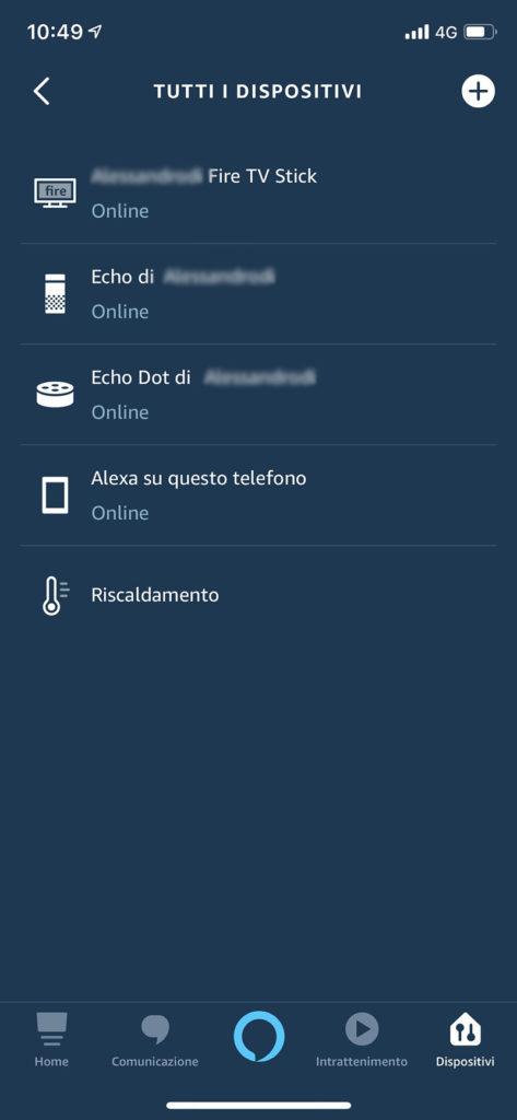 Cambia il nome di Alexa