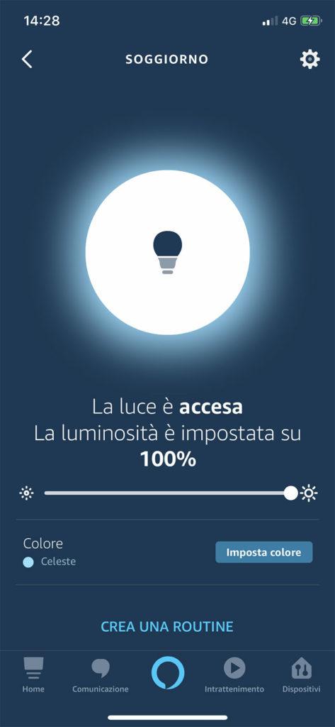 Skill controllo luce con Alexa